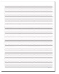 Elementary Ruled Paper Printable Handwriting Paper