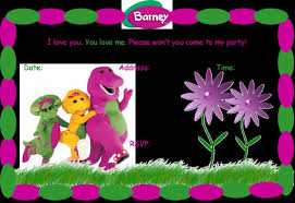 barney party invitation template colors barney birthday invitations printable as well as barney