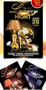 free luxury night flyer psd template with facebook cover