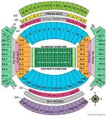 Lsu Stadium Chart 57 Memorable Bama Stadium Seating Chart