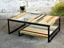Pallet, Metal and Glass Coffee Table
