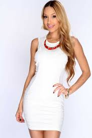 Womens Clothing Party Dresses White Netted Off Shoulders Dress