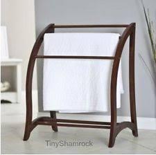 Quilt Rack   eBay & Wood Quilt Rack Beechwood Blanket Stand Storage Display Towel Bar Large 3  Tier Adamdwight.com