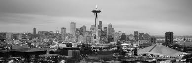 Seattle Cityscape Seattle Panoramic Skyline Cityscape Black Unknown Artist Icanvas