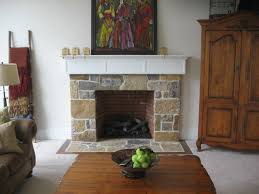 indoor stone fireplace. custom indoor stone fireplace