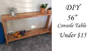 diy 56 inch console table under 15