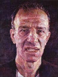 chuck close american 1940 alex 1987 oil on canvas