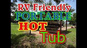 portable hot tub for rv camping simple propane fired hot tub bathtub