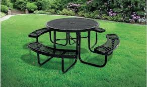 round picnic table black commercial round picnic tables picnic table bench cushions round picnic table