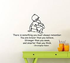 Christopher Robin Quotes New Amazon Winnie The Pooh Wall Decal Christopher Robin Quote