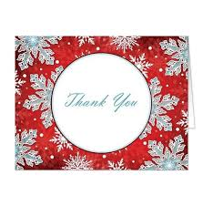 snowflake thank you cards modern red white blue snowflake thank you cards online red