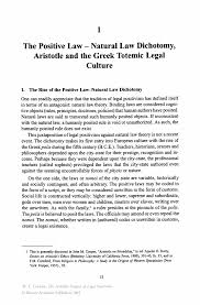 the positive law natural law dichotomy aristotle and the greek inside