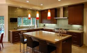 Kitchens Designs 2014 Amazing Brown Square Contemporary Wooden Kitchen Stained With Perfect Design