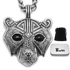 bavipower berserker bear head pendant necklace snless steel nordic scandinavian necklace authentic viking