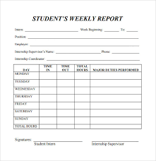 How To Write A Weekly Report Template Free 25 Sample Weekly Report Templates In Docs Pdf Word