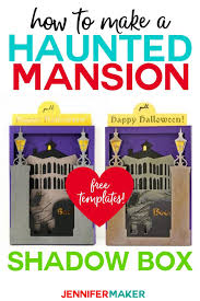 Printable and online halloween cards are our treat to you, so make all you want! Halloween Card Haunted Mansion Shadow Box Jennifer Maker