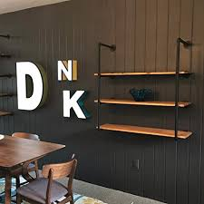 3 tier industrial pipe wall shelf home