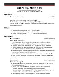 Best Junior Editor Resumes | Resumehelp