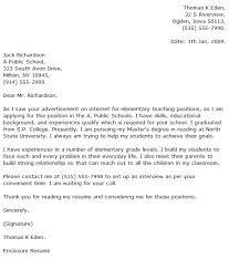 Elementary Teacher Cover Letter inside Elementary Teacher Cover ...