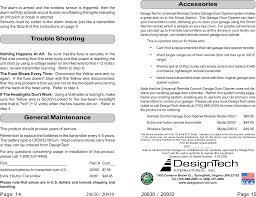 Design Tech International Springfield Va Diy2 Security R C Receiver User Manual 20630 V1 2 P65 Designtech