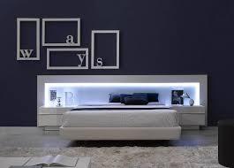 ultra modern bedroom furniture. spain made ultra modern platform bed w led headboard u0026 upholstered framek bedroom furniturecontemporary furniture d