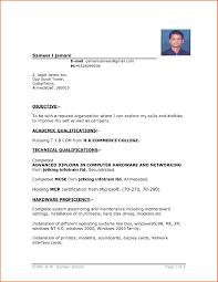 Delightful Ideas Simple Resume Format Download In Ms Word Sample