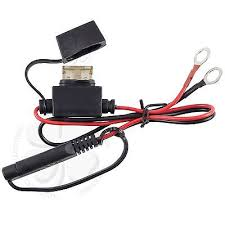 1980 2015 battery tender fused charger wiring cable ring harness motorcycle battery terminal ring connector harness 12 volt charger adapter cable