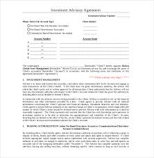 Investment Agreement Templates Investment Advisory Agreement Template 14 Investment Agreement