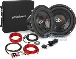 powerbass bass package dual subwoofers monoblock amp kit 600w rms powerbass bass package