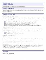 Retail Sales Associate Resume Retail Sales Associate Resume Sales