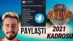 Survivor 2021 Kadrosu / Enes Batur Twitter 'de Paylaştı ( SON DAKİKA !!! )  - YouTube