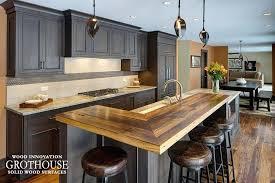 wood countertops kitchen island ideas