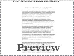 cultural differences and interpersonal relationships essay  cultural differences and interpersonal relationships essay the essay was about interpersonal relationships the essence of