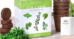 indoor herb grow kit home grow food indoor herb garden kits a great gardener gift best