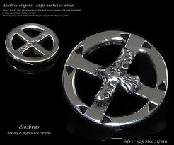 diosbras feather necklace mens native イーグルフェザー medicine image 0 silver medicine wheel pendant inspirational jewelry