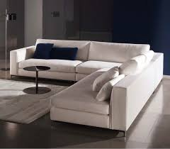 Contemporary Sectional Couches Divani Casa White Cube Sofa Long High