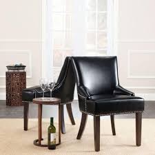 safavieh dining room chairs lotus black bicast leather side chair set of 2