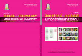 Journal of Science and Technology Mahasarakham University We are listed in  the Thai-Journal Citation Index Centre. (Tier 1)