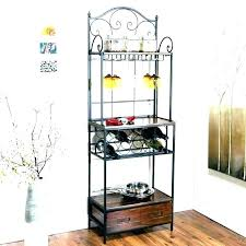 wooden bakers rack metal and wood shelves corner hobby lobby racks wrought iron stainless steel turner