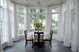White Sunroom Window Treatment Ideas Glass