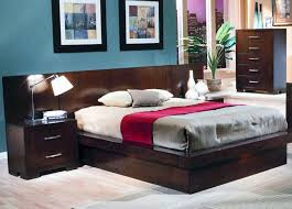 jessica platform bed 9 piece bedroom set with back panels in cappuccino finish by coaster 200711bp