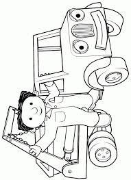 Leuk Voor Kids Bob En Scoop De Graafmachine Idee Kleurplaat Bob De