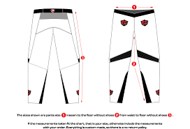 Pants Size Chart Potter Racing Products