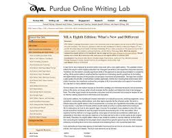 8th edition what is new purdue owl mla formatting and style guide