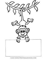 Small Picture monkey printables Hanging Monkey Coloring Page Free Printable