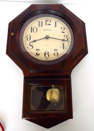 bulova wood wall clock pendulum made in
