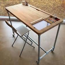 Glass writing table