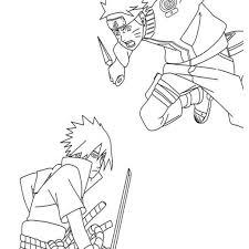 Naruto And Sasuke Coloring Pages With Naruto Coloring Pages