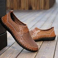 high quality fashion men s driving slip on loafers leather summer shoes men breathable mesh casual shoes in india high quality fashion men s