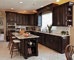 dark stained kitchen cabinets. Brilliant Dark Stained Kitchen Cabinets On Within Backsplash Birch With 19